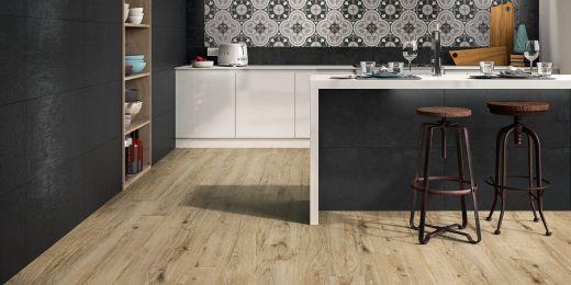 Keramische tegels in hout-, parket-, beton-, leer-, natuursteen-, terracotta imitatie… - België