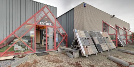 Tegelshowroom in Hélécine - Waals Brabant - nabij de provincies Vlaams Brabant, Limburg, Luik en Namen