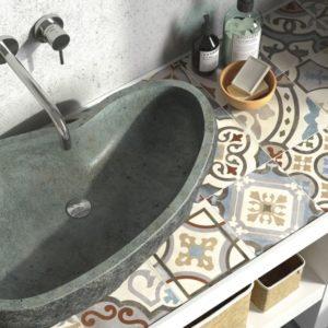 Keramische tegels in retro, vintage, oude stijl, metro